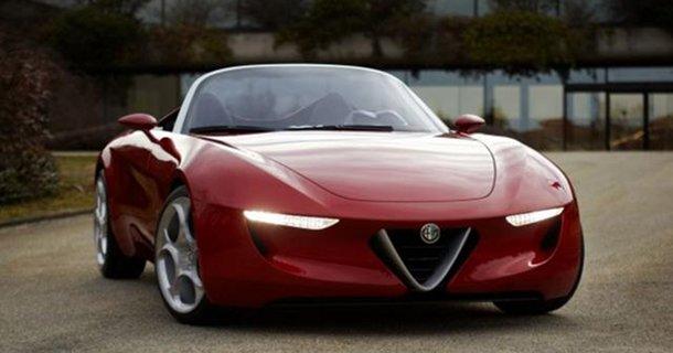 Alfa Romeo baby 8C konceptbil – Se det fremtidige Alfa Romeo coupé design