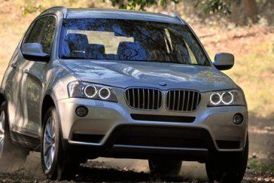BMW X3 med baghjulstræk og firehjulstræk