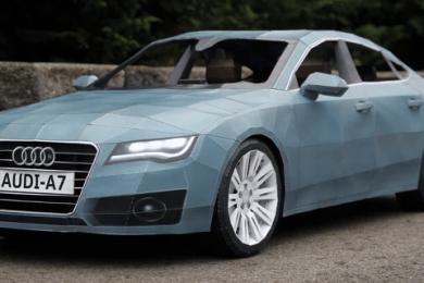 audi a7 papirmodel – paasken 2011 hos Audi