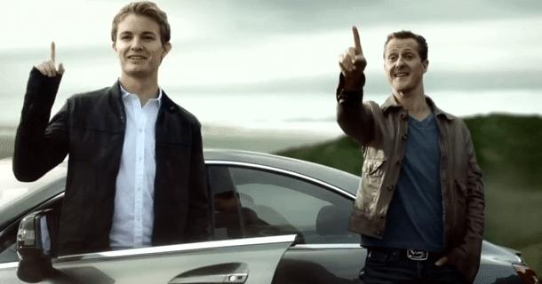 Mercedes-Benz AMG reklame spørg dig: Rosberg eller Schumacher? – Video
