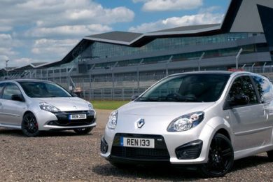 Renault Twingo RS 133 og Clio RS 200 Silverstone GP Limited Edition