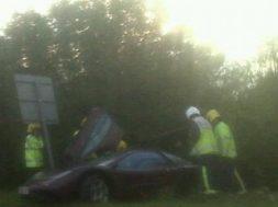 Rowan Aktinson McLaren F1 ulykke