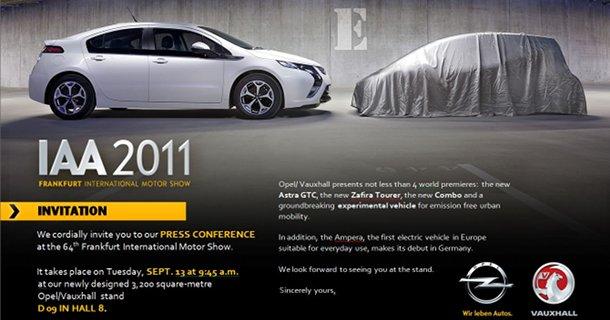 Opel inviterer til fremvisning af ny elbil