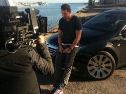 Rasmus Seebach under videooptagelse