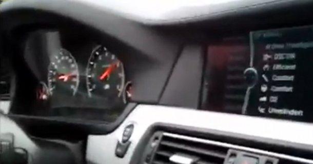 Se BMW M5 med fuld fart på Autobahn – Video