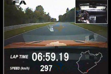 lexus lfa på nürburgring slår porsche 2011