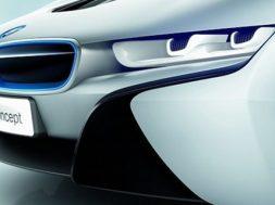 BMW i8 har det omtalte lasersystem