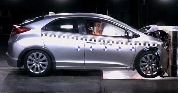 Honda viser sikkerheden i den nye Civic – Video
