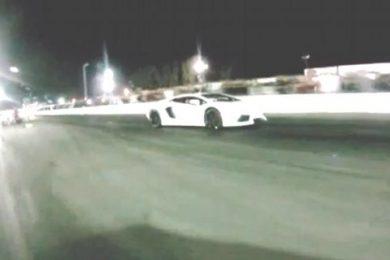 Nissan GT-R giver Lamborghini Aventador baghjul