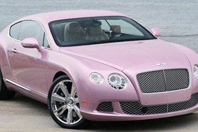 Pink Bentley Continental GT – Byd på den