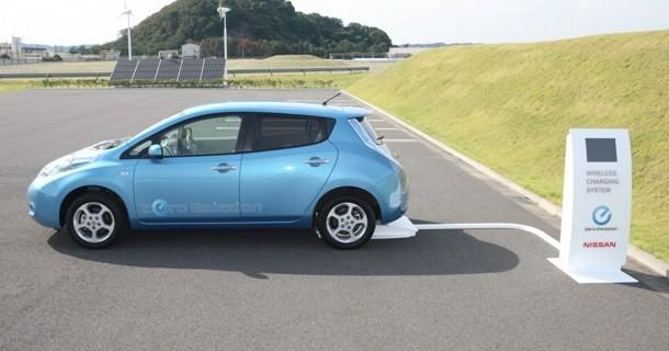 Nissan arbejder på trådløs oplader til Leaf