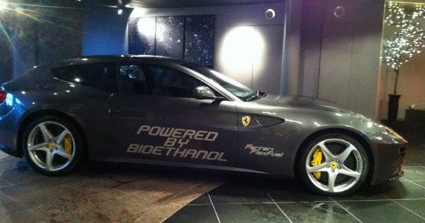 I Norge kører Ferrari FF på Bioethanol…