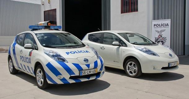 Nissan Leaf indkøbes som politibil i Portugal