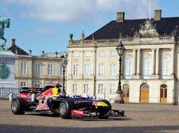 Red Bull har taget deres Formel 1 racer med til København