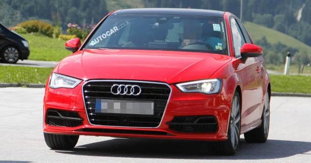 Friske spionfotos af den nye Audi S3