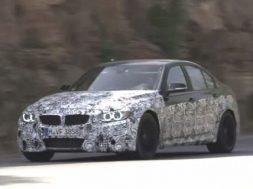 Den nye BMW M3 testes i Spanien