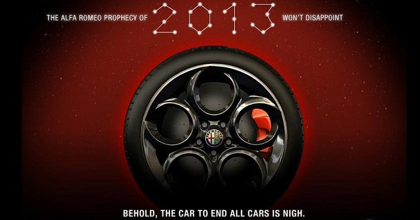 Alfa teaser 4C coupé præsentation