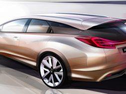 Honda Civic stationcar koncept tegning
