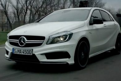 Billede af Mercedes A45 AMG fra video