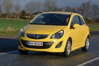 Opel Corsa til under 100.000 kr.