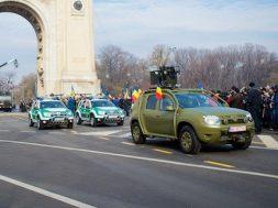 Vild Dacia Duster militærbil