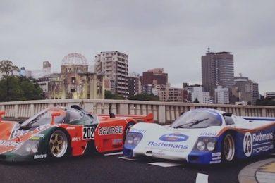 Le mans racer i byen