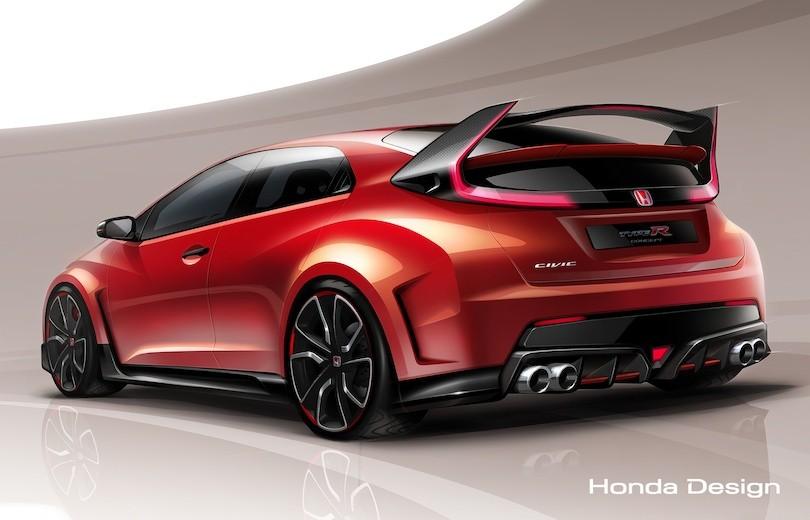 Her er Honda Civic Type R konceptet!