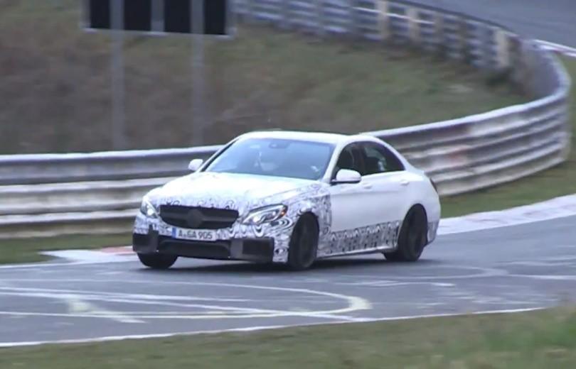 Se den nye C63 AMG på Nürburgring