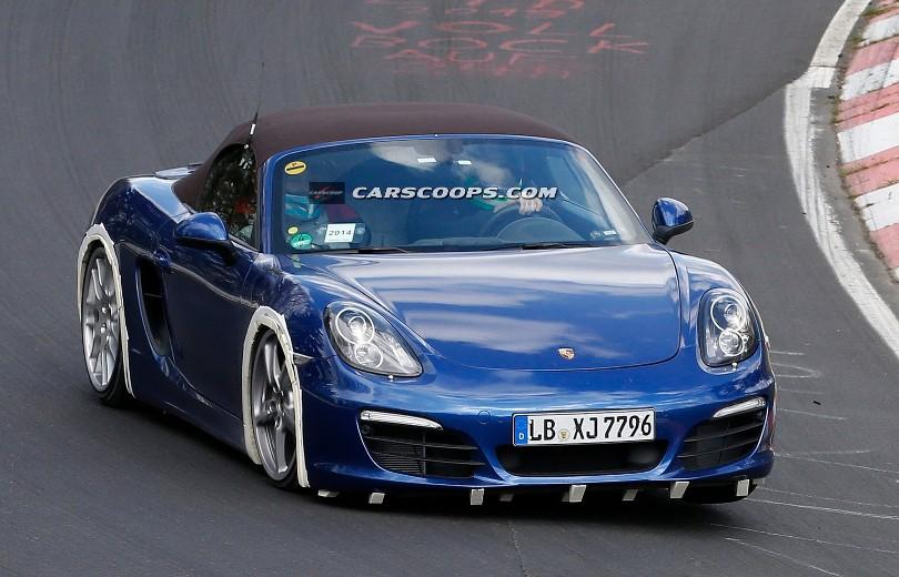 Porsche tester firecylindret Boxster på 'Ringen