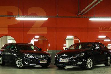 KIA Optima duel mod Opel Insignia