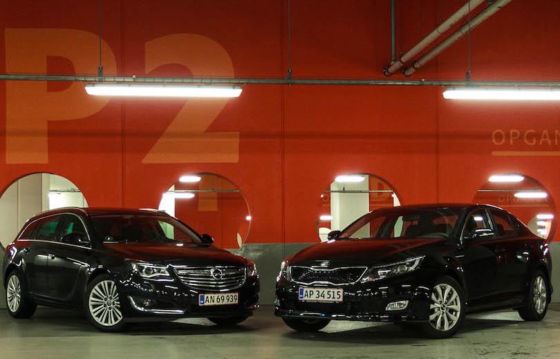 Duel: KIA Optima mod Opel Insignia