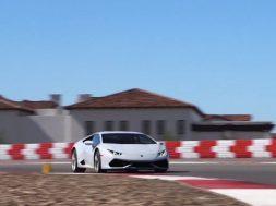 Lamborghini Huracan på bane
