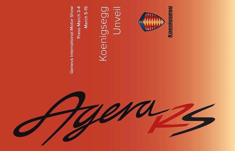 Koenigsegg på vej med Agera RS!