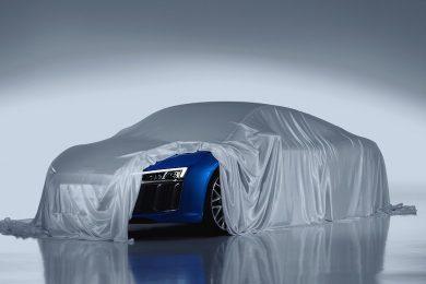 Audi R8 med laserlygter