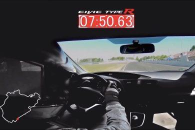 Honda Civic Type R på Nürburgring