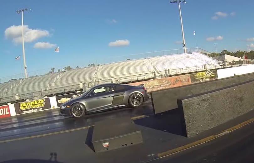 Tesla giver Audi R8 V10 baghjul