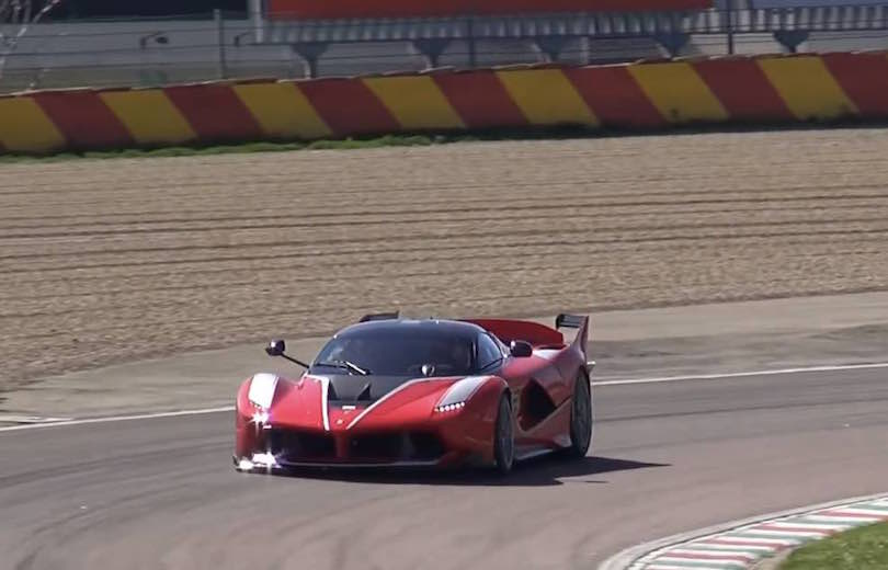 Hør Ferrari FXX K brøle på Fiorano