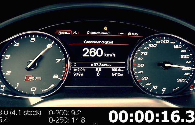 760 hestes lynhurtig Audi S8