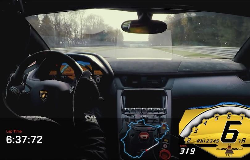Magnifico: Aventador SV rundt på ringen på under 7 minutter