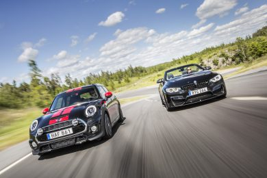 Mini Cooper S JCW Tuning og BMW M4 Performance udstødning