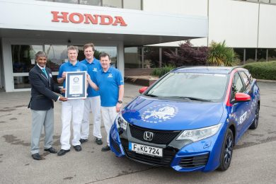 Honda Civic Guiness World Record