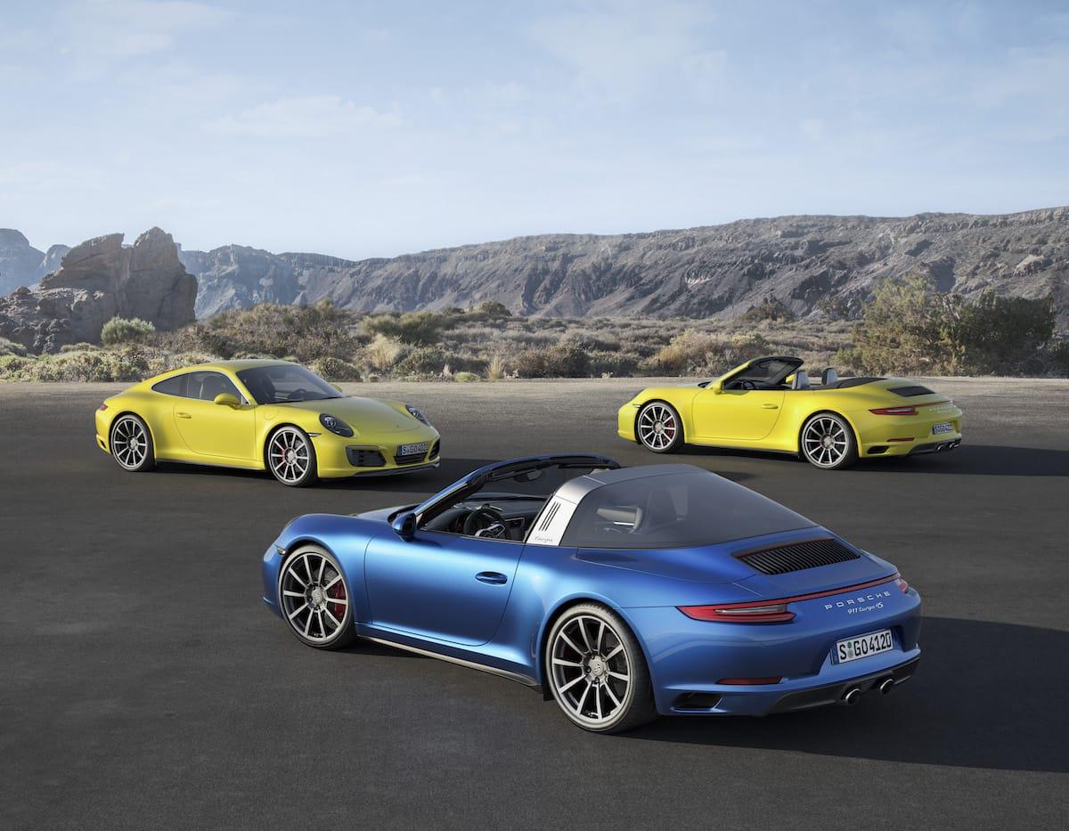 Faceliftet Porsche 911 Carrera 4 og 911 Targa 4 får turbo