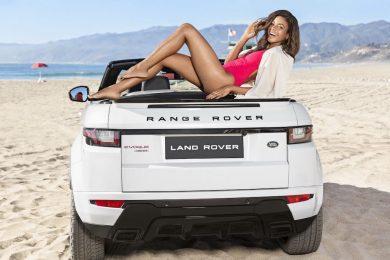 Range Rover Evoque cabriolet med Naomie Harris