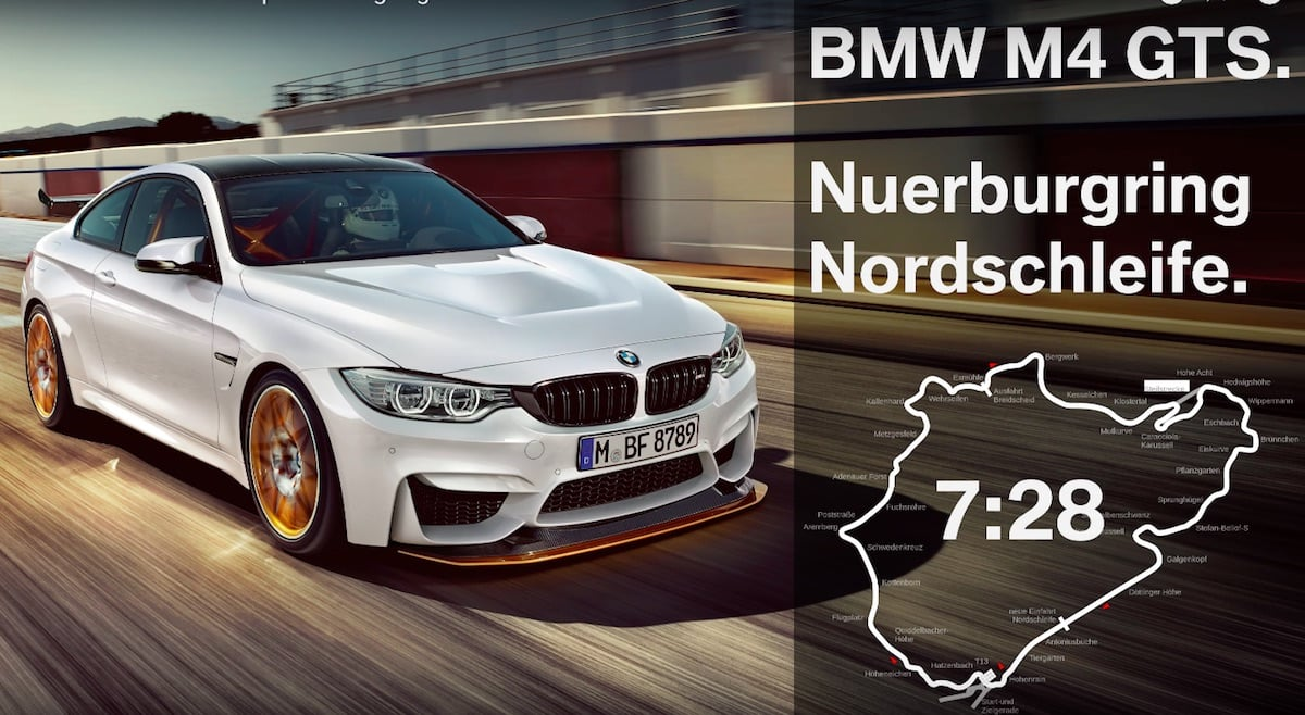 BMW M4 GTS klarer Nürburgring på samme tid som Ferrari 458 Italia!