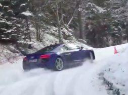 Audi R8 elsker sne