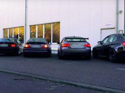 Fem generationer af BMW M3