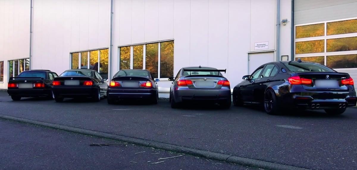 Video: Fem generationer af BMW M3