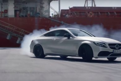 Mercedes C63 AMG S drift video