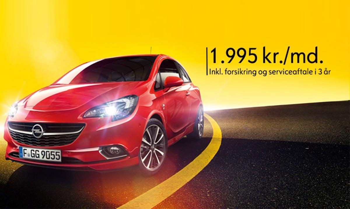 Knaldtilbud: Opel Corsa fra 1.995 kr. pr. måned!