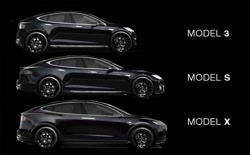 Tesla Model 3, S og X